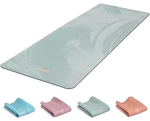 FLXBL Yoga Luxus - Esterilla de yoga antideslizante, lavable, fina, ligera y plegable para viajes, sostenible y 100% vegana
