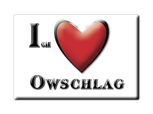 Enjoymagnets OWSCHLAG (SH) Souvenir Deutschland Schleswig Holstein Fridge Magnet KÜHLSCHRANK Magnet ICH Liebe I Love