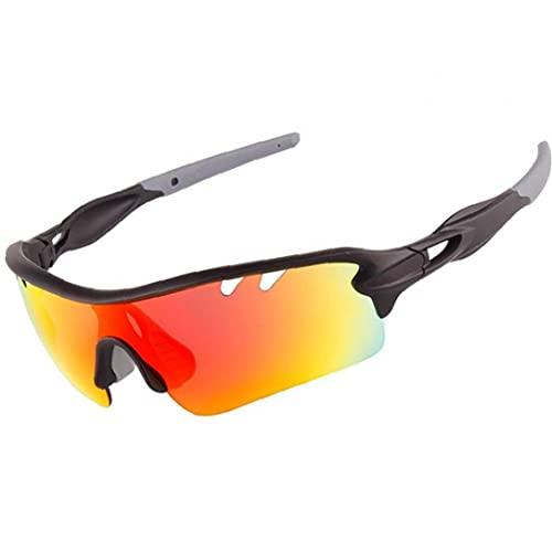 Froiny Gafas De Deportivas Protección De Gafas Deportivas Polarizadas con 5 Conjunto De Lentes Intercambiables para Hombres Hombres En Correr Ciclismo Pesca
