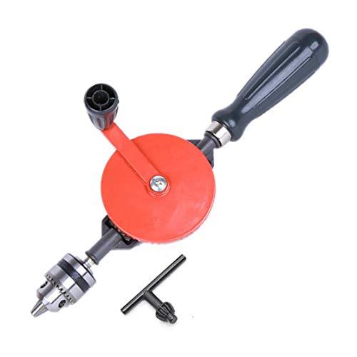 DIY Handbohrfutter kraftvoll und schnell, 0,6–6 mm Bohrfutter mit 3 Backen, Handbohrer mit Bohrfutterschlüssel, manuelles Handwerkerbohren, Bohrloch für Holz, weiches Metall (0,6–6 mm).