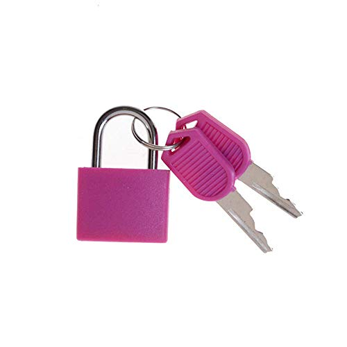 6 Colores pequeño Mini candado de Acero Fuerte Maleta Cerradura de cajón Caja de Equipaje candado con Llave cerraduras antirrobo con 2 Llaves-_a2