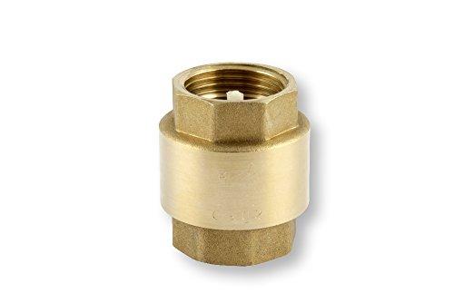 derClou24 Ventil Messing Rückschlagventil mit Innengewinde 1 Zoll, gold