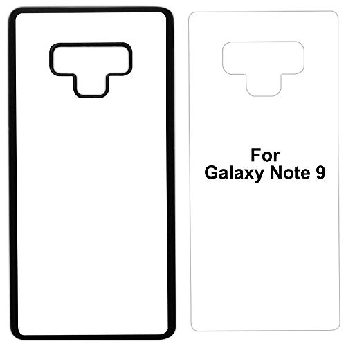 5 x Sublimation Rubber Black case Compatible with Galaxy Note 9 - Blank dye case + Inserts for dye Sublimation/Blank Phone Cover Printable case, Made by INNOSUB USA