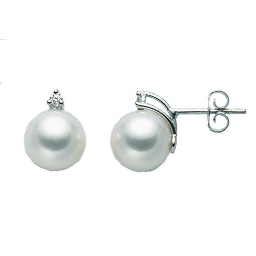 Orecchini Perle Oro Diamante Miluna PPR775BM_005