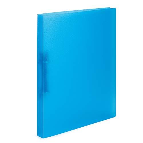 HERMA 19165 Ringbuch DIN A4 Transluzent Hellblau, schmal, 2 Ringe, stabiler Kunststoff, 25 mm breit, transparenter Ringbuchordner für die Schule und Büro, Ringbuchmappe