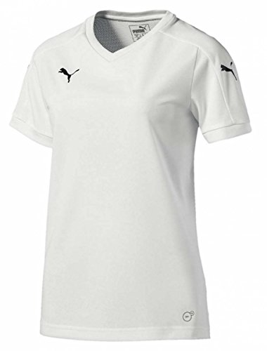 PUMA Damen Pitch Womens Shortsleeved Shirt Trikot, White, L