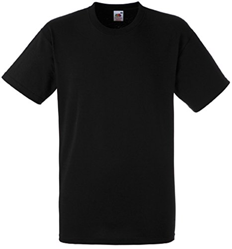 Fruit of the Loom Herren Heavy Cotton T T-Shirt, Schwarz (Black 101), Large