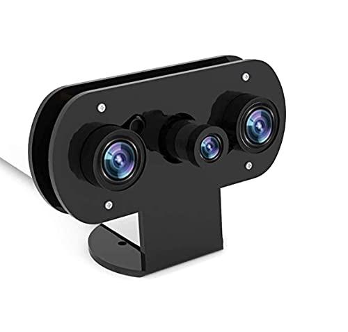 für Himbeer-Pi-Infrarot-Nachtsicht-IR-Kamera mit Acryl-Halter-Fall, Einstellbarer Fokus-Webcam für Pi 4 / Pi 3 B + / Pi 3, Anzug für Home Security-Monitore, DIY, 3D-Drucker