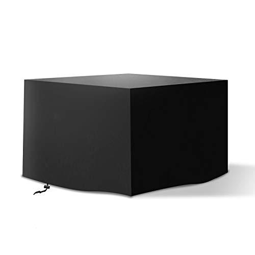 Tvird Funda para Muebles de Jardín,Copertura Impermeable para Mesas Rectangular,Cubierta de Exterior Funda Protectora Muebles Mesas Sillas Sofás Exterior 420D Oxford 125x125x74cm Negro.