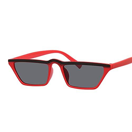 WANGZX Gafas De Sol Cuadradas Atractivas Gafas De Montura Pequeña Gafas De Sol Retro Gafas De Sol De Moda para Mujer Uv400 Blackeyered