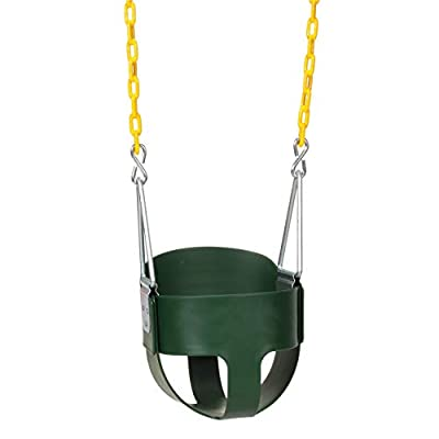Eastern Jungle Gym Heavy-Duty High Back Full Bucket Toddler Swing Seat with Coated Swing Chains
