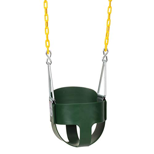 Eastern Jungle Gym Heavy-Duty High Back Full Bucket Toddler Swing Seat with...