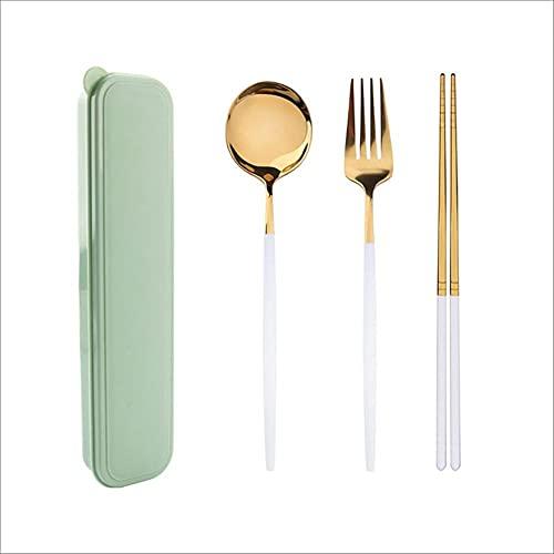 Juego de vajilla de acero inoxidable occidental de 4 Uds., Nuevo juego de vajilla de cubiertos, cuchillo, tenedor, cuchara con caja, herramientas de cena para el hogar, 4 Uds., 9 A