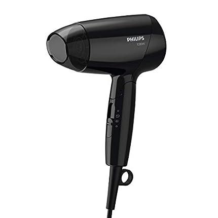 Philips Cura dei capelli Bhc00/0 Drycare Essentialcare Secador Compacto, Potencia 1200 W, Negro