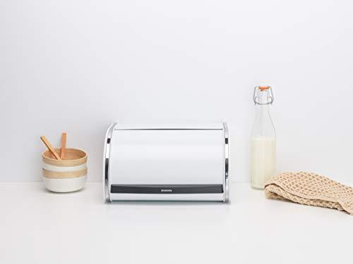 ブラバンシアブレッドビンロールトップミディアムパン、調味料、スナック菓子収納オフホワイト306044