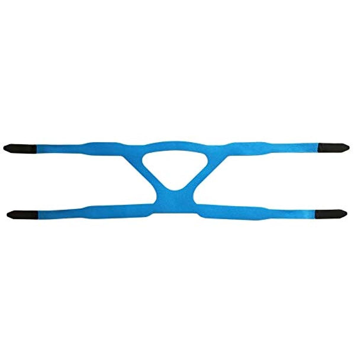 故障中大通り熱ユニバーサルヘッドギアコンフォートジェルフルマスク安全な環境での取り替えCPAPヘッドバンドなしPHILPSに適した - ブルー&グレー