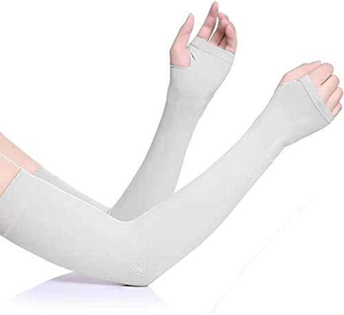 アームスリーブ 紫外線対策アームカバー UVカットり クールアームカバー レディース 腕カバー 冷感 吸汗速乾 UVカット率99.6% 日焼け止めカバー 日焼け止め サムホール UPF50+ 紫外線対策 吸汗 速乾男女兼用 (F)