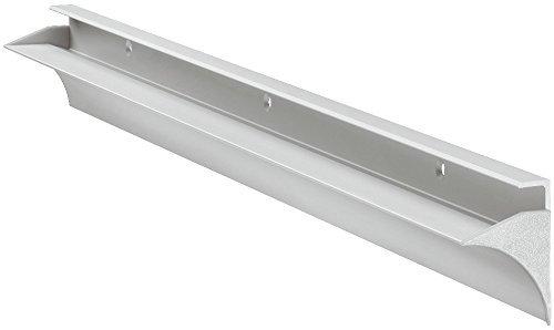 Gedotec Tablarträger Wandschiene Glas-Bodenträger Wandkonsole für Holzböden | Regalbodenträger mit 35 kg Tragkraft | Tablardicke 8 mm | Regalträger Alu silber eloxiert | 1 Stück Regalhalter Aluminium