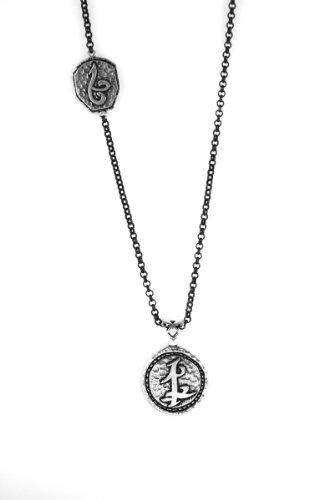 Chroniken der Unterwelt: City of Bones, 925er-Silberhalskette / Jace-Halskette, mit Freundschafts-Parabatai-Runen-Anhänger von Amyn, dem Juwelier