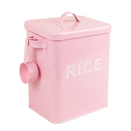 Fenteer Boite Stockage Blanchisserie avec Couvercle Récipient Détergent à Lessive - Riz-Rose