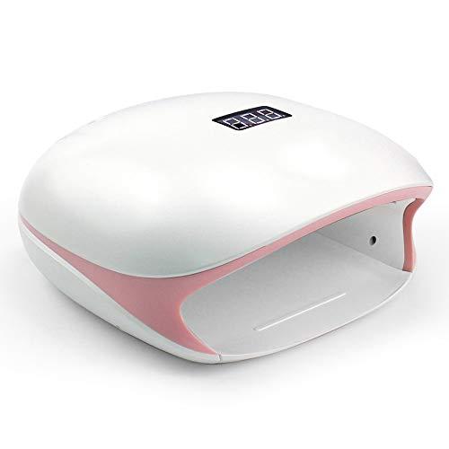 ZUEN Nail Lampe UV 48W LED Nail Dryer pour Durcissement Gels Polonais avec Manucure Smart Sensor Nail Art Salon Équipement 36 Perles De Lampe LED/Double Source De Lumière UV