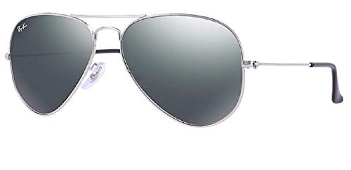 Ray Ban RB3025 W3275 55M Silver/ Gray Mirror Aviator, Silver/Crystal...