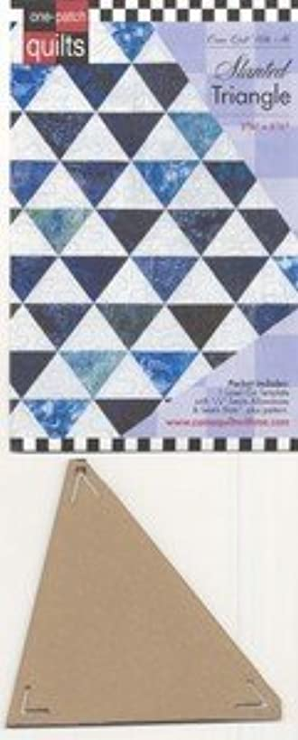 Come Quilt with Me Template - Slanted Triangle 3 5/8