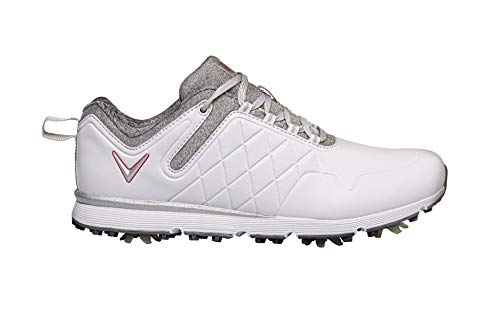 CALLAWAY W637 Lady Mulligan, Zapatos de Golf Mujer, Blanco/Heather, 38 EU