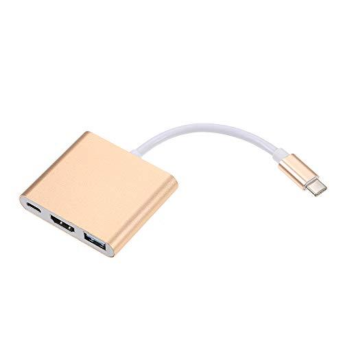 Docooler USB 3.1 Tipo-C para USB 3.0 / HD/Tipo-C HUB USB-C 3-em-1 Adaptador Dongle Cabo Dock para MacBook Pro, Dell XPS 13