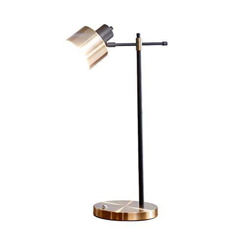 DAI QI Lámpara de Dormitorio Lámpara de Mesa Nordic INS Red Red Moderna y Simple Lámpara de Escritorio Creativo American Luxury Office Lamp para la Oficina de Dormitorio Lámpara de Mesa Retro