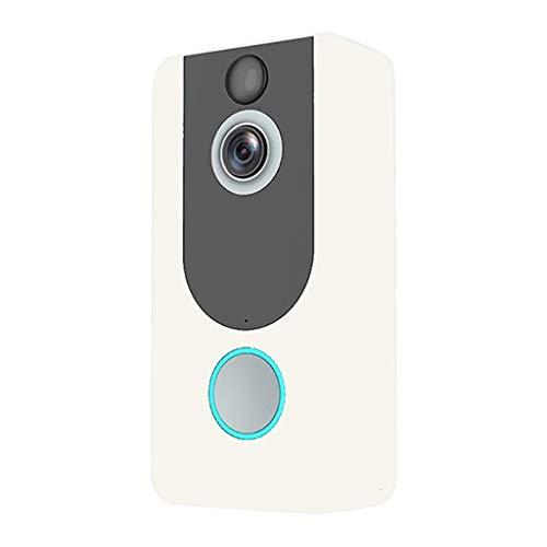 Yanganjin WiFi video deurbel, 720P HD video deurbell draadloze bel met 2-weg audio-bewegingssensor en infrarood nachtzicht voor iOS en Android-smartphones