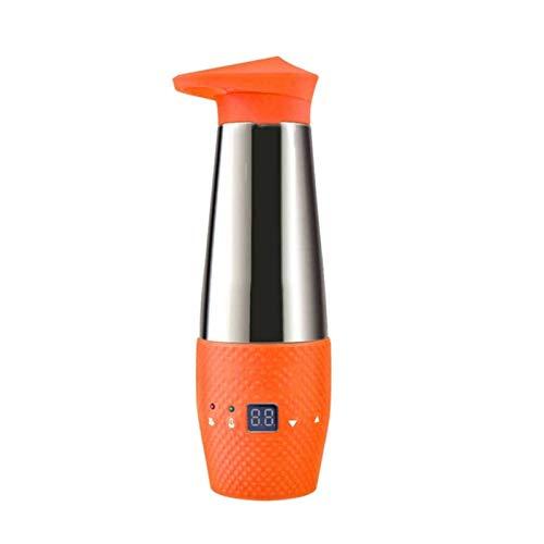 Adesign Taza de Viaje Inteligente - Taza de café de Control de Temperatura para Coche, Taza de café con calefacción, Calentador de Leche de Acero Inoxidable, w/vehículo 12V DC, Pantalla Digital LCD