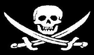 Flagge Fahne Pirat gekreuzter Säbel (Fluch der Karibik) 90x150cm
