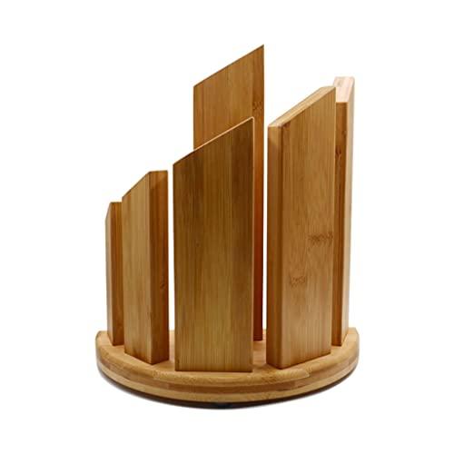 Bloque de cuchillos Tenedor de cuchillo magnético de madera de bambú para el hogar para el soporte de cuchillo sin perforación vertical, para el titular del utensilio de la cocina del hogar Juego de b