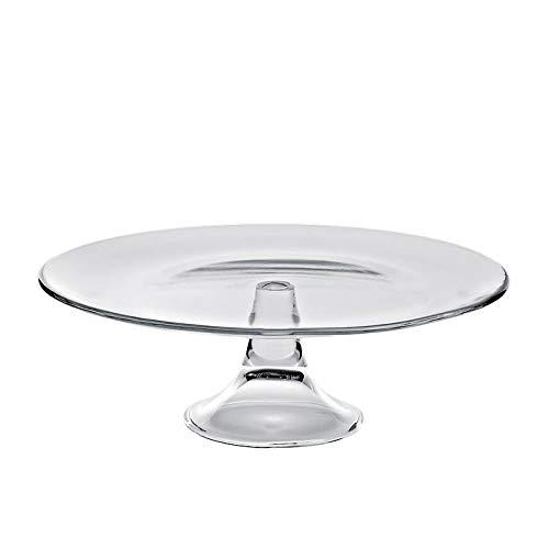 CRISTALICA Tortenplatte Kuchenständer Teller mit Fuß Klara 33cm klar Hochzeitstorte Glas