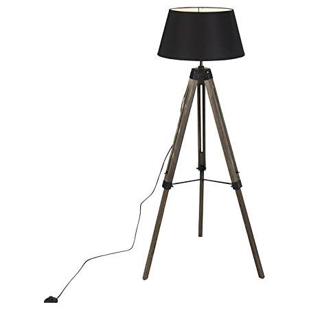 QAZQA rio fl - Lampe de table trépied/tripode Industriel - 1 lumière - H 1400 mm - Marron - Rustique - Éclairage intérieur - Salon | Chambre | Cuisine | Salle à manger
