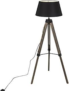 QAZQA rio fl - Lampe de table trépied/tripode Industriel - 1 lumière - H 1400 mm - Marron - Rustique - Éclairage intérieur...