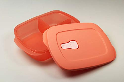 Tupperware Mikrowelle CrystalWave 1 L lachs mit Abtrennung Mikro Micro Crystal Wave Plus Fix