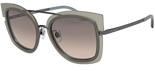 Armani GIORGIO 0AR6090 Gafas de sol, Matte Gunmetal/Top Beige Azure, 54 para Mujer