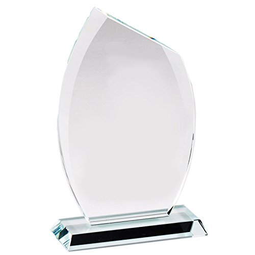 Customizable 7 Inch Glass Flame Award with Beveled Edges, Includes Personalization