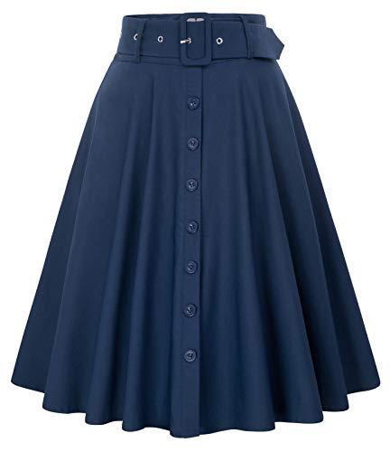 Belle Poque Gonne Anni 50 Donna Vintage Invernali Gonne da Donna Stile Vintage BP0571-4 S