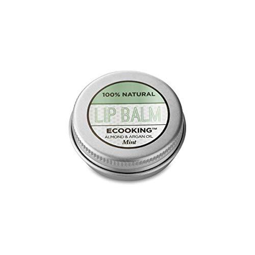 ECOOKING Lippenbalsam Minze, mit Vitamin E und Arganöl, Kurbelt die Durchblutung an, 15 ml