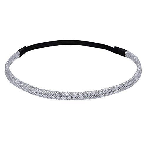 Haarband kleur: zilver, materiaal: 100% polyester,