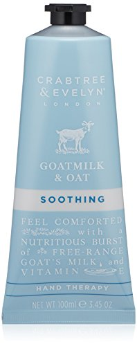 Crabtree & Evelyn Goatmilk and Oat Soothing Hand Cream Therapy, 0.86 oz
