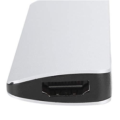 Concentrador USB, concentrador de teléfono, Conveniente aleación de Aluminio Plug and Play para Viajes de Oficina, Negocios Desde casa