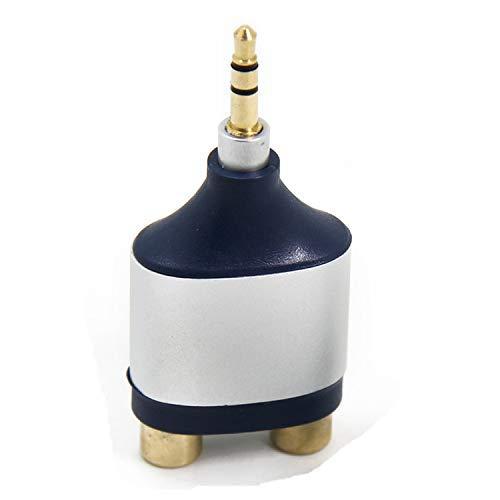 Premium Stereo Adapter, Ancable 3.5mm TRS Mannelijke Plug naar Dual RCA Vrouwelijke Jack Connector voor DVD/Record Player, Surround Sound Stereo, Bose Speaker, Monitor, Xbox en TV 1-Pack
