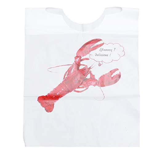 ibasenice - Baberos desechables para Homard – Baberos de plástico para pinchazos – para adultos y niños – Delantal impermeable y antisuciedad