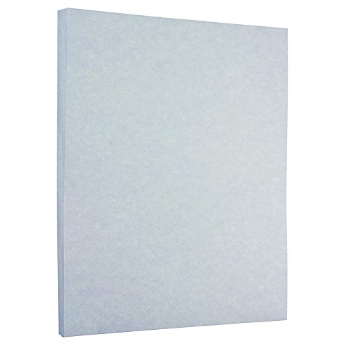 JAM PAPER Parchment 24lb Paper - 8.5 x 11 - Blue Recycled - 100 Sheets/Pack