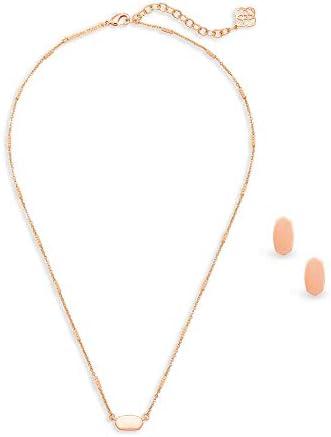 Kendra Scott Fern Pendant Necklace Barrett Stud Earrings Gift Set for Women Dainty Fashion Jewelry product image
