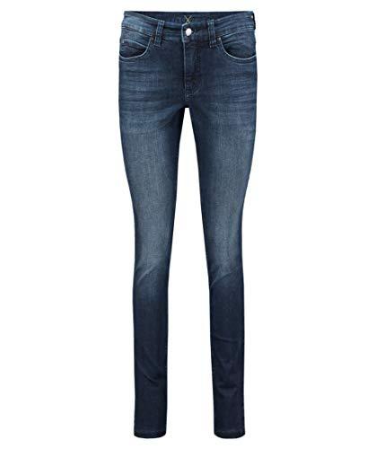 MAC Jeans Damen Dream Skinny Authentic Jeans, D651 (Basic Slight Used Blue), 42/32
